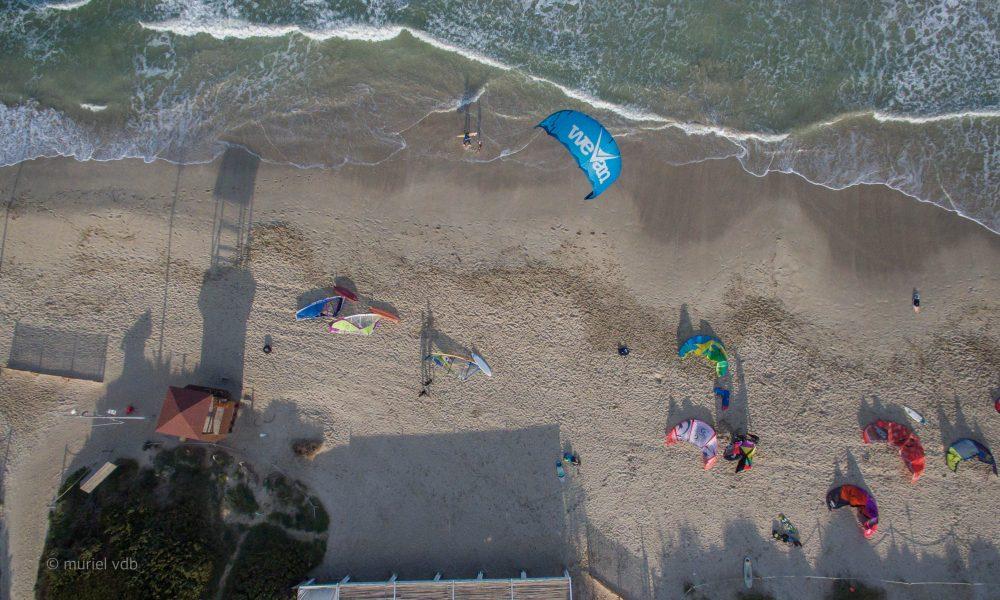 Kites sur la plage d'Alcudia (espagne, Mallorca).